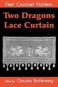 Two Dragons Lace Curtain Filet Crochet Pattern