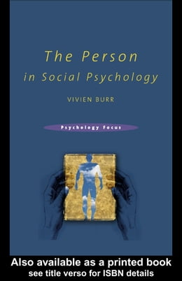 Book The Person in Social Psychology by Burr, Vivien