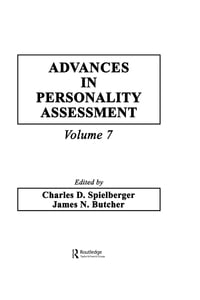 Advances in Personality Assessment: Volume 7