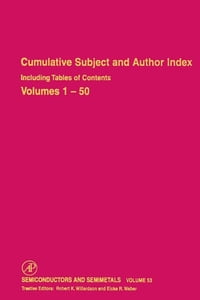 Cumulative Subject and Author Index Including Tables of Contents, Volumes 1-50