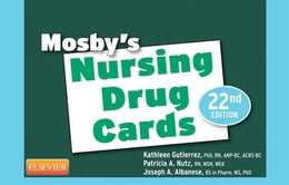 Book Mosby's Nursing Drug Cards by Mosby
