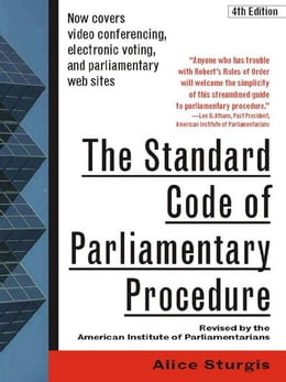 Book The Standard Code of Parliamentary Procedure, 4th Edition by Sturgis, Alice