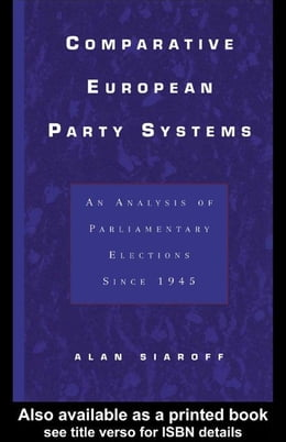Book Comparative European Party Systems by Siaroff, Alan