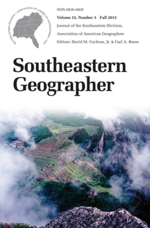 Southeastern Geographer Fall 2013 Issue