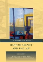 Hannah Arendt and the Law by Marco Goldoni