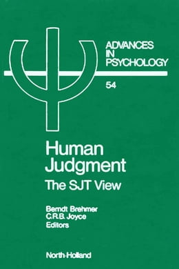 Book Human Judgment: The SJT View by Brehmer, B.