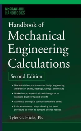 Book Handbook of Mechanical Engineering Calculations, Second Edition by Hicks, Tyler G.