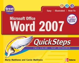 Book Microsoft Office Word 2007 QuickSteps by Matthews, Marty