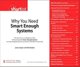Book Why You Need Smart Enough Systems (Digital Short Cut) by James Taylor