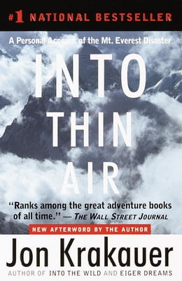 Book Into Thin Air by Jon Krakauer
