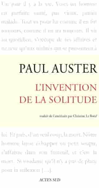 L'Invention de la solitude by Paul Auster