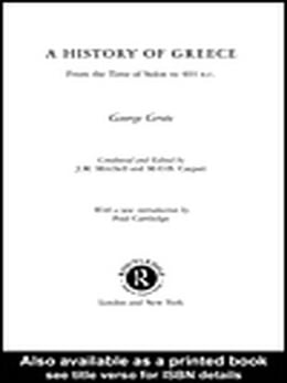 Book A History of Greece by Grote, George