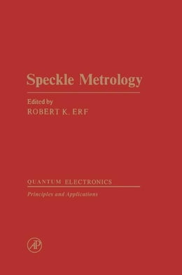 Book Speckle Metrology by Erf, R