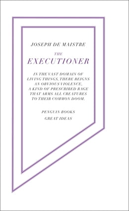 Book The Executioner by Joseph de Maistre