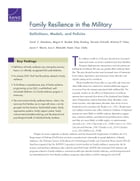 Family Resilience in the Military: Definitions, Models, and Policies