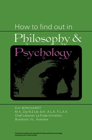 How to Find Out in Philosophy and Psychology: The Commonwealth and International Library: Library and Technical Information Division