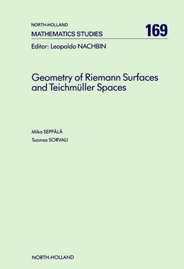 Book Geometry of Riemann Surfaces and Teichmüller Spaces by Seppälä, M.
