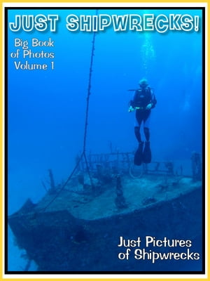 Just Shipwreck Photos! Big Book of Photographs & Pictures of Sunken Ships with Scuba Tank Divers and Ship Wrecks Treasure Hunters,  Vol. 1