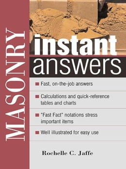 Book Masonry Instant Answers by Jaffe, Rochelle
