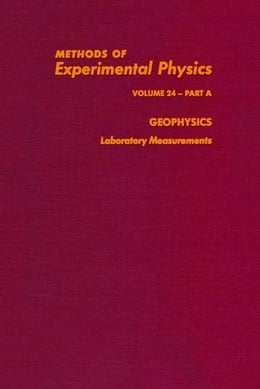 Book Geophysics Laboratory Measurements by Sammis, Charles G.