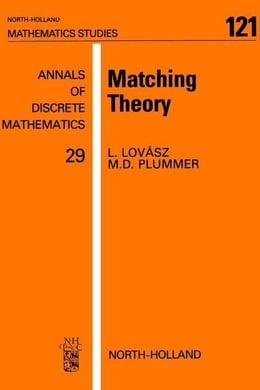 Book Matching Theory by Plummer, M.D.