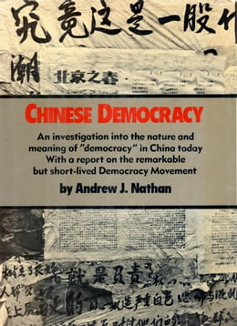 Book CHINESE DEMOCRACY by Andrew J Nathan