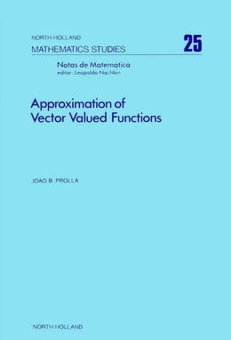 Book Approximation of vector valued functions by Prolla, Joao B.
