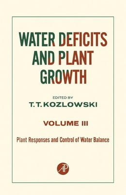 Book Plant Responses and Control of Water Balance by Kozlowski, T.T.