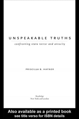 Book Unspeakable Truths by Hayner, Priscilla B.