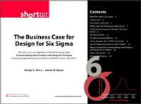 Business Case for Design for Six Sigma (Digital Short Cut) The