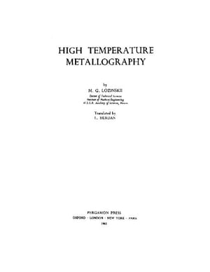 High Temperature Metallography