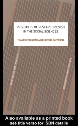 Book Principles of Research Design in the Social Sciences by Bechhofer, Frank