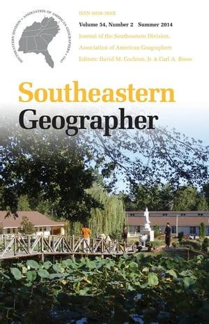 Southeastern Geographer Summer 2014 Issue