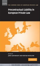 Precontractual Liability in European Private Law