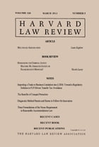 Harvard Law Review: Volume 126, Number 5 - March 2013 by Harvard Law Review