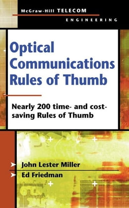 Book Optical Communications Rules of Thumb by Miller, John