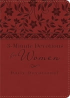 3-Minute Devotions for Women: Daily Devotional (burgundy) by Barbour Publishing, Inc.