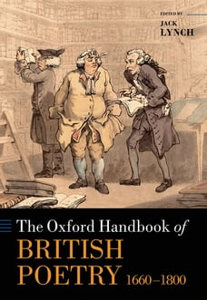 The Oxford Handbook of British Poetry, 1660-1800