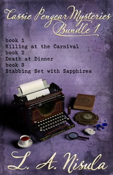 Cassie Pengear Mysteries books 1,2,3- Killing at the Carnival, Death at Dinner, Stabbing Set with…