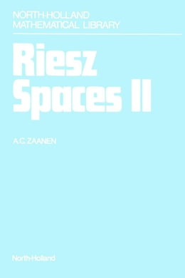 Book Riesz Spaces II by Zaanen, A.C.