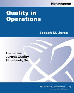 Book Quality in Operations by Juran, Joseph M