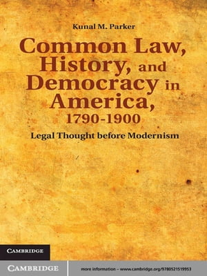 Common Law,  History,  and Democracy in America,  1790?1900 Legal Thought before Modernism