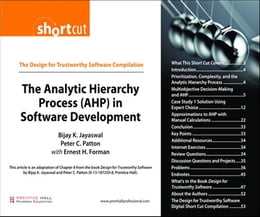 Book The Analytic Hierarchy Process (AHP) in Software Development (Digital Short Cut) by Bijay K. Jayaswal