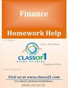 Calculation of Various Financial Ratios from the Given Information by Homework Help Classof1