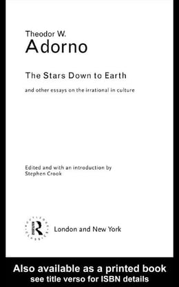 Book The Stars Down to Earth by Adorno, Theodor Wiesengrund
