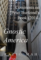 Comments on Peter Burfeind's Book (2014) Gnostic America by Razie Mah