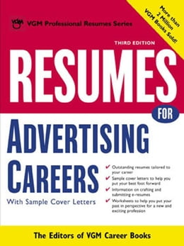 Book Resumes for Advertising Careers by Editors of VGM Career Books
