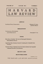 Harvard Law Review: Volume 127, Number 3 - January 2014 by Harvard Law Review
