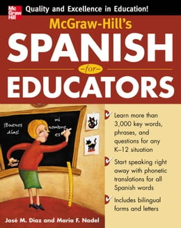 Book McGraw-Hill's Spanish for Educators (Book Only) by Diaz, Jose