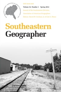 Southeastern Geographer: Spring 2012 Issue
